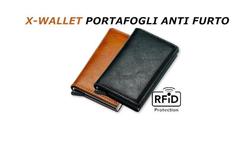recensione x wallet portafogli anti furto