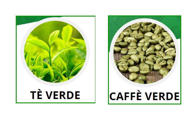 ingredienti green coffe e green tea