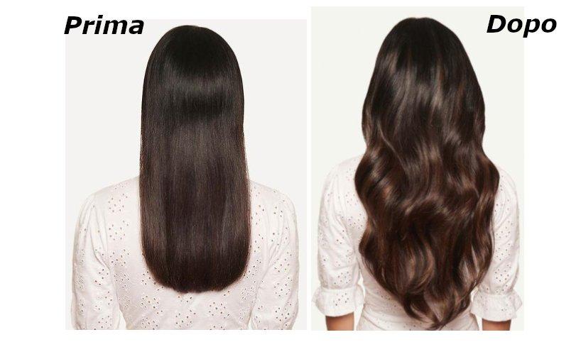 hair extension prima e dopo