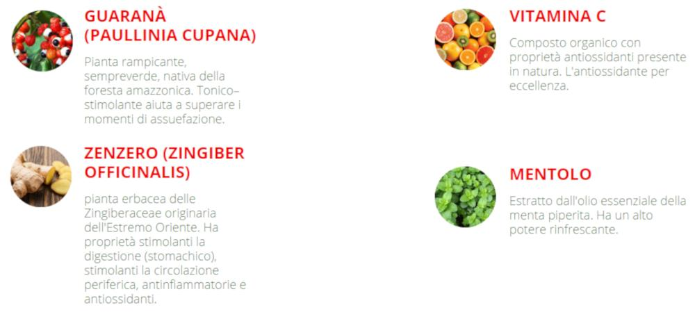 nocotina ingredienti