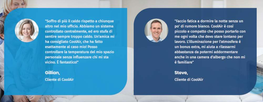 cool air opinioni e testimonianze