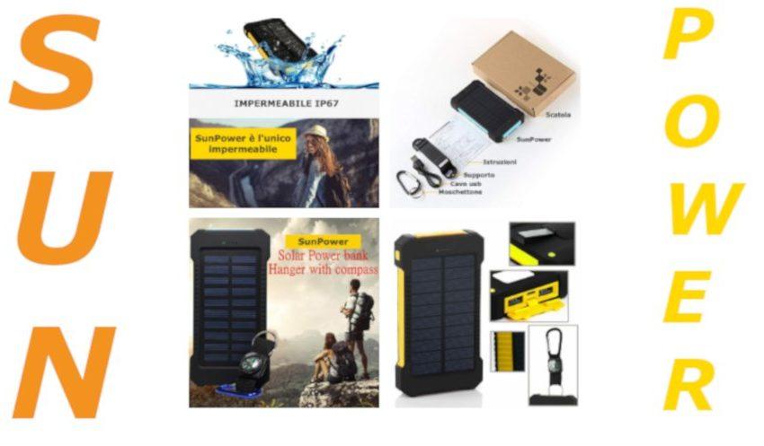 sunpower power bank solare recensione completa