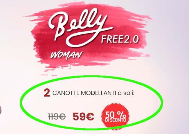 belly free woman prezzo