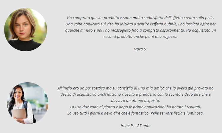 bubble mask opinioni e testimonianze