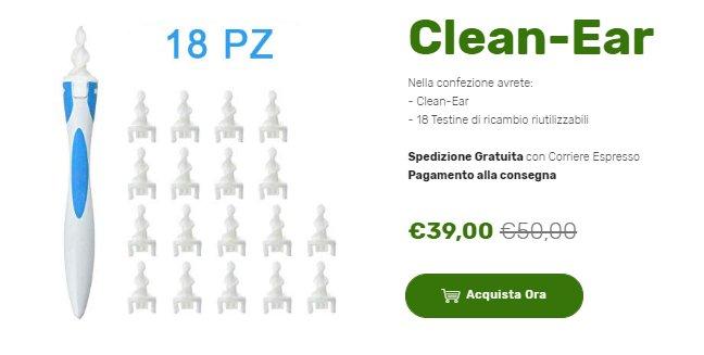 clean ear prezzo