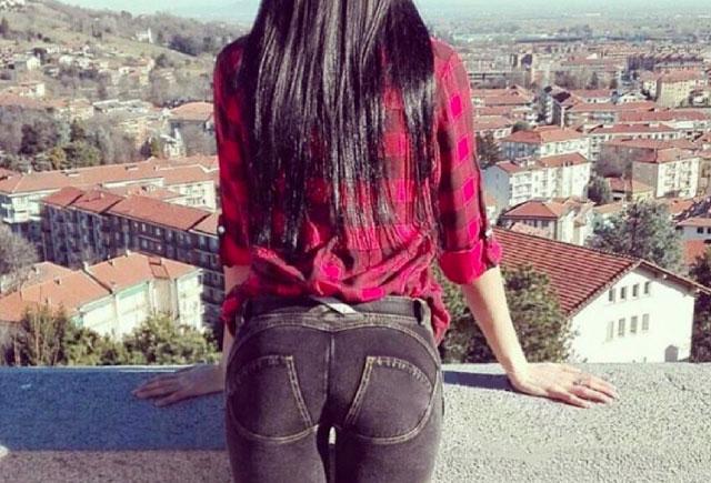 leggins effetto jeans